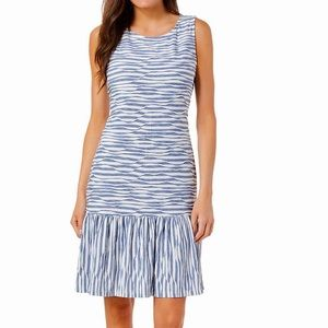 Ronni Nicole Women's Stripe Knit Drop Waist Dress